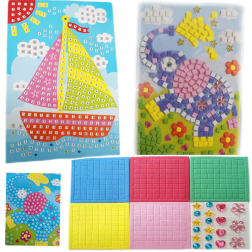 Art Sticker Mosaic Craft Kids Educational Puzzle Diamond Toys Kit Toy Gem Stone