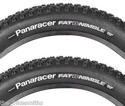 """2PAK Panaracer Fat B Nimble 26""""x 4.0 Wire Bead Fat Bike Fast Tire Pair fit Surly"""