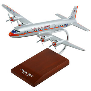 American-Airlines-Douglas-DC-7-Desk-Top-Display-Model-Aircraft-1-100-ES-Airplane