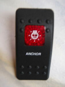 boat Marine Contura II Rocker Switch Carling lighted Stern Light RED Lens