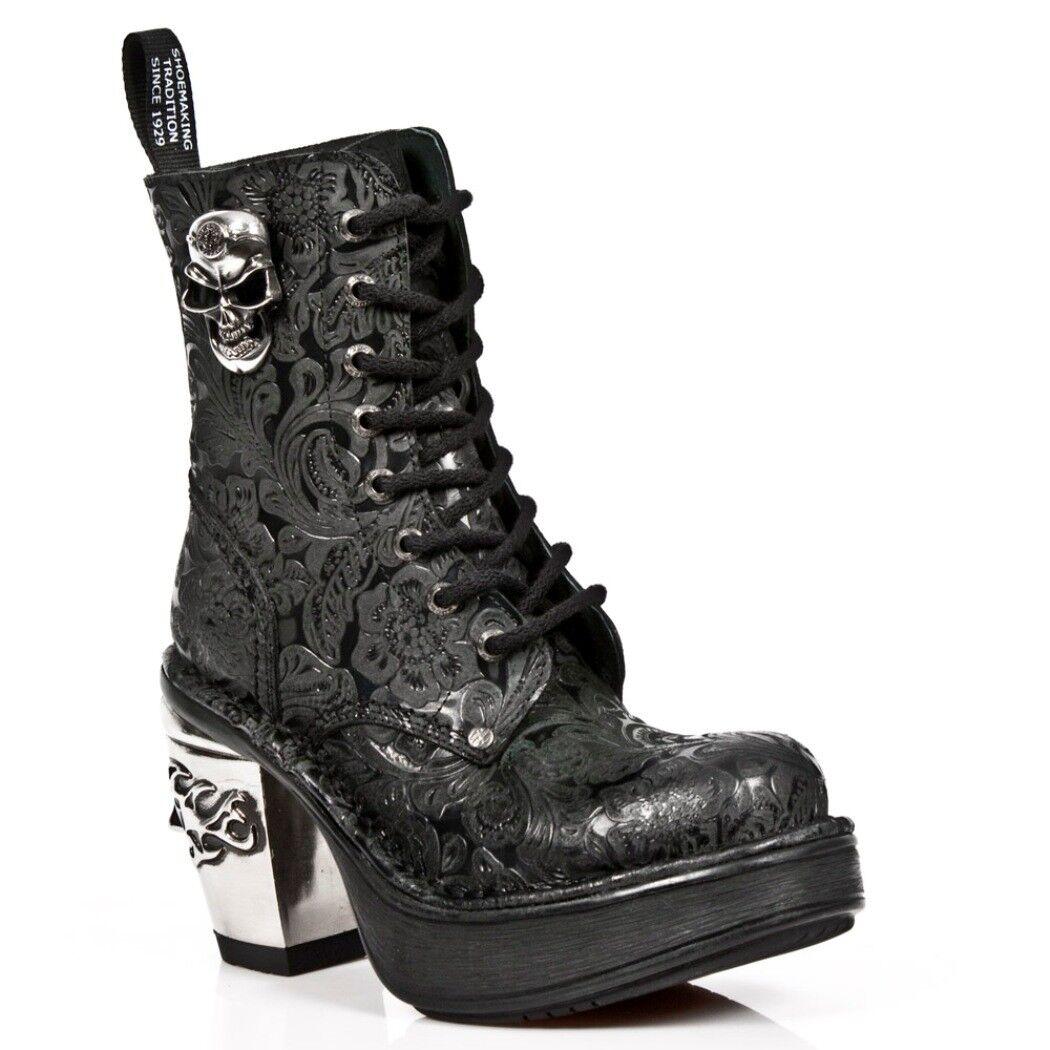 Newrock Nr M.8358 S1 Negro-New Rock botas-Para Mujer