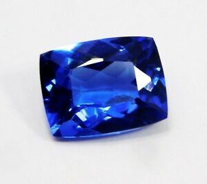 Natural-CERTIFIED-Cushion-Cut-10-Ct-Blue-Sapphire-Loose-Gemstone