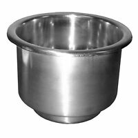 Th Marine Lch-1ss-dp Stainless Recessed Cup Holder With Drain