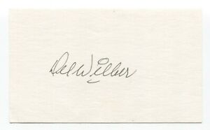 Del Wilber Signed 3x5 Index Card Autographed Baseball 1946 St Louis Cardinals