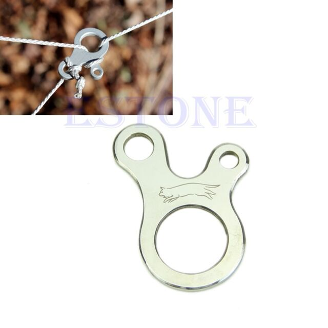 New EDC 3 Hole Survival Buckle Multi-purpose CNC Stainless Outdoor Knotting