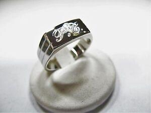 máquina solo Nuestra compañía  925 hombres de plata anillo grabado las iniciales incluidas en el precio    eBay