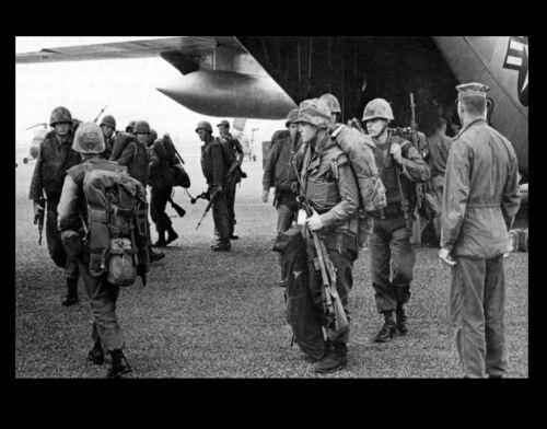 US Air Force 1965 Vietnam War C-130 Delivers Marines to Da Nang PHOTO Airbase