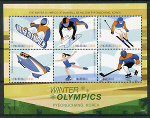 Marshall-Islands-2018-MNH-Winter-Olympics-PyeongChang-Ice-Hockey-6v-M-S-Stamps