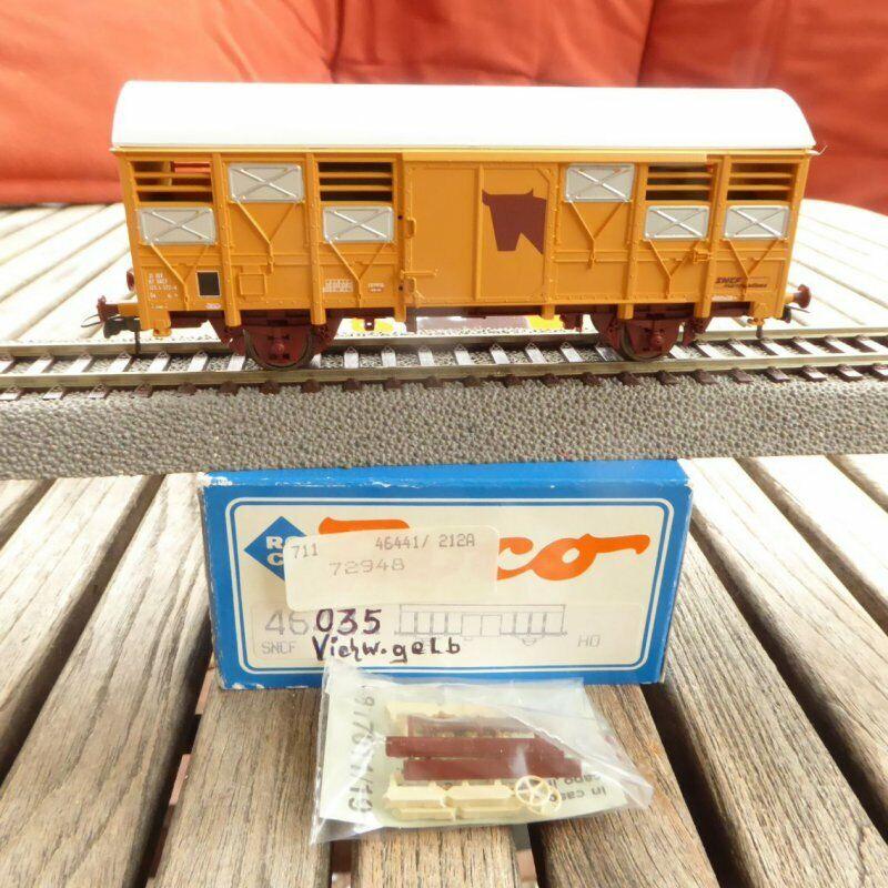 Roco 46441 H0 Carga Cerrado Transporte de Ganado SNCF Época 4 5 como Nuevo, Ovp