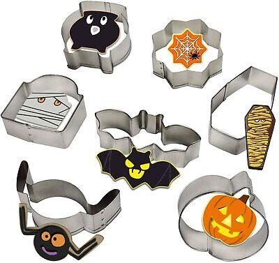 Halloween Bat Pumpkin Shape Mold Stainless Steel Cookie Cutter DIY Baking Tools