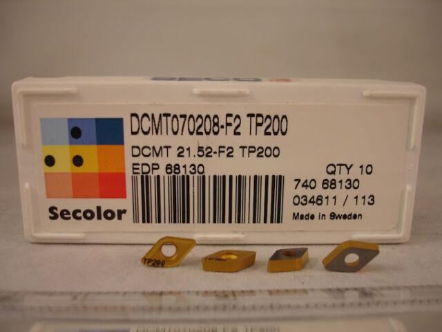DCMT 21.52 F2 TP200 SECO Carbide Inserts (10pcs) 1426