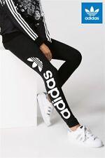4b41315a375 Adidas Originals W Trefoil Linear Black Leggings Size UK 8, 10, 12 New (