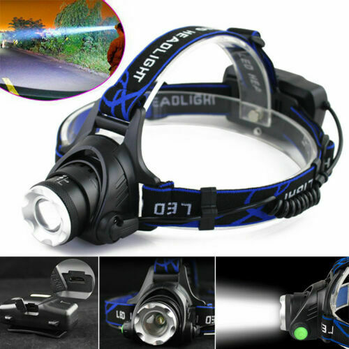 1LED Headlamp Rechargeable Zoomable Headlight-CREE XML-T6-Head Torch AD