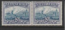 SOUTH AFRICA - 1938 - 2d BLUE & VIOLET - BILINGUAL PAIR - MNH