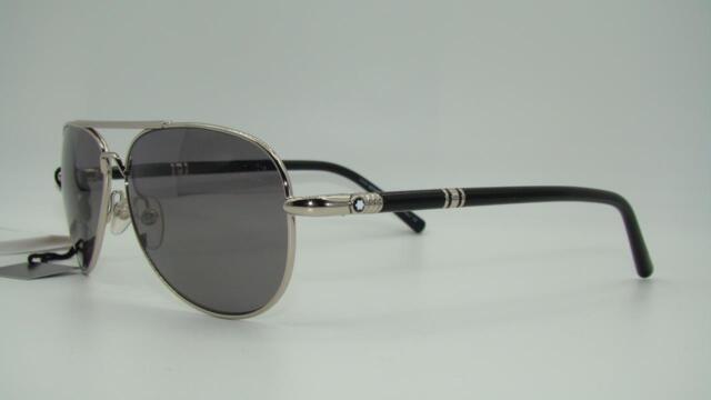 84188342794 Mont Blanc 509S 16D Black   Palladium Sunglasses CARL ZEISS POLARIZED Lens  61mm