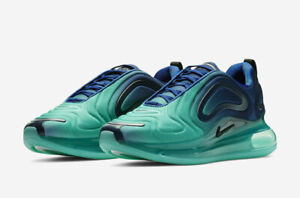 Details about Nike Air Max 720 Green Carbon Sea Forest Deep Royal Blue Black Jade AO2924 400