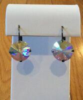 Sabika Clear Shimmer Rhinestone Dangle Drop Earrings