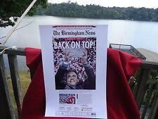 PRINT JAN. 8, 2010 - THE BIRMINGHAM NEWS - BAMA 37 TEXAS 21 - BACK ON TOP