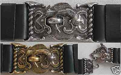 100% Vero 1a Monospalla 5cm Cinturone Pelle Cintura Nuovo Medioevo Pelle Cintura First Class-mostra Il Titolo Originale Per Soddisfare La Convenienza Delle Persone