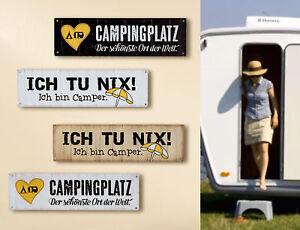 1 X Schild Weisheit Camping Weiss Spruch Campingplatz Der Schonste
