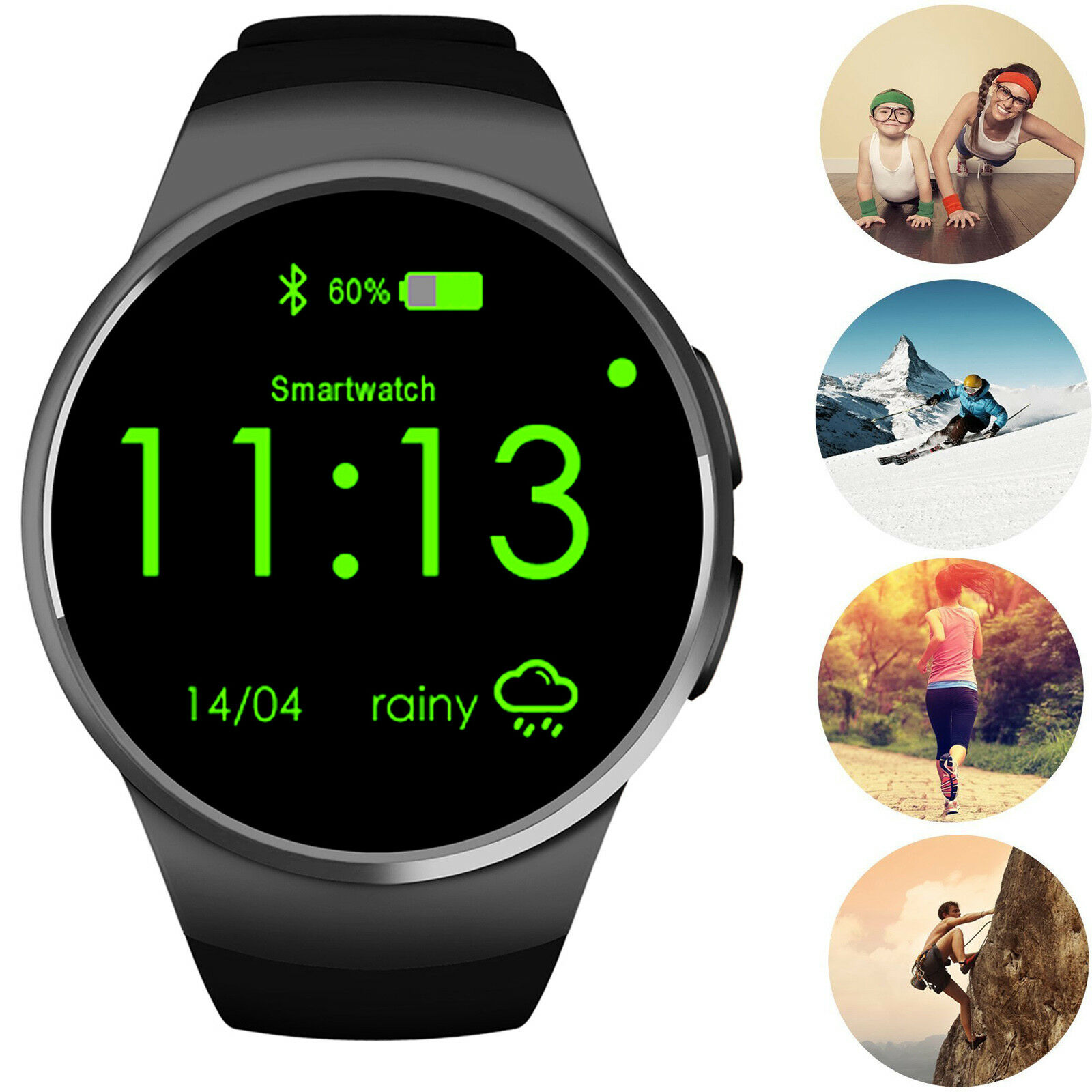 94ed95140 Details about Lady Women Bluetooth Wrist Smart Watch For ASUS Samsung  Galaxy S7 S6 S5 J1 Mini