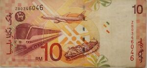 RM10 Zeti sign Replacement Note ZB 0346046