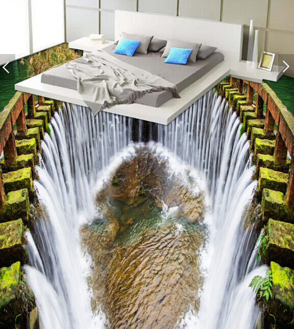 3D Great Waterfall 5073 Floor WallPaper Murals Wallpaper Mural Print AJ AU Lemon