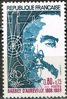 France Famous Writer Jules-Amédée Barbey d'Aurevilly stamp 1975 MNH