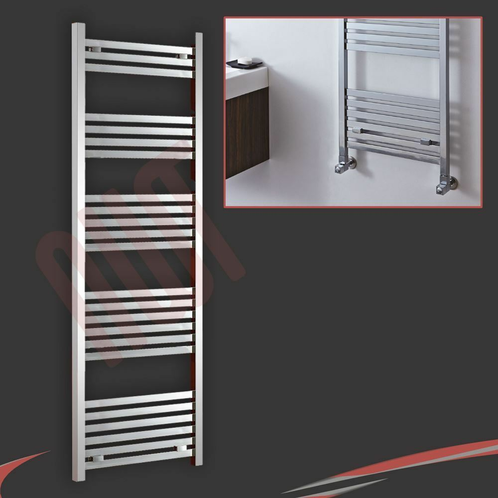 500mm(w) x 1200mm(h)  Andromeda  Chrome Chrome Chrome Designer Heated Towel Rail Warmer Holder d56dd2