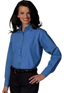 Edwards Garment Women S Long Sleeve Broadcloth Button Down Dress
