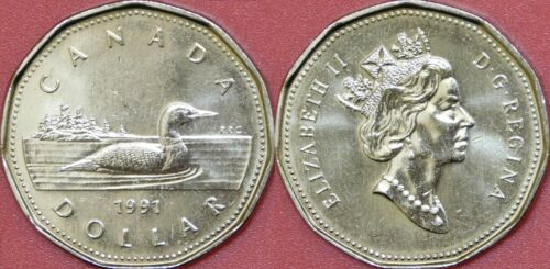 Brilliant Uncirculated 1991 Canada 1 Dollar From Mint/'s Roll