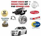 FOR BMW X5 E70 3.0TD 2007-4/2009 FRONT BRAKE DISCS SET & DISC PAD + SENSOR LEAD