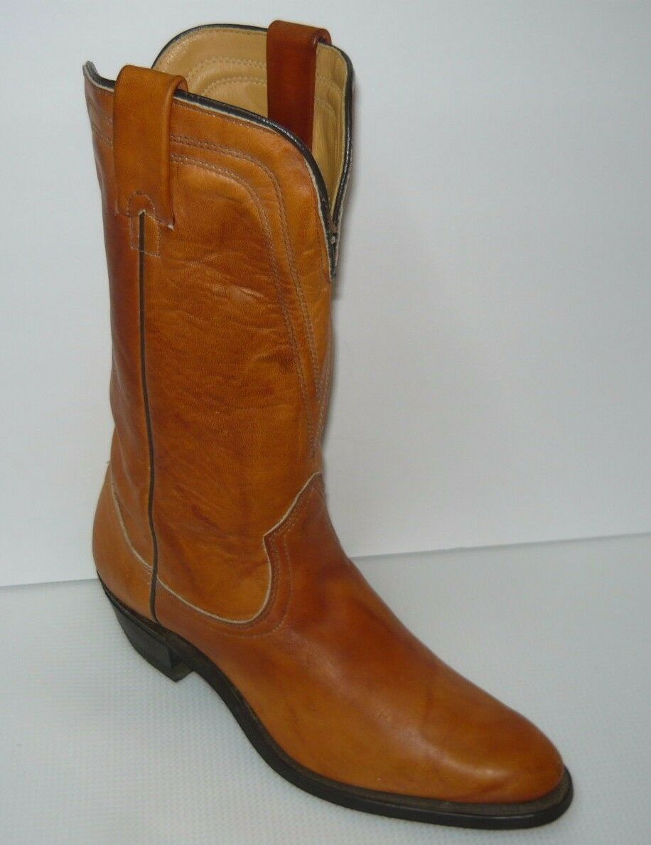 Texas Hyphalon style 4844 Cowboy Leather Boots Men's Soles