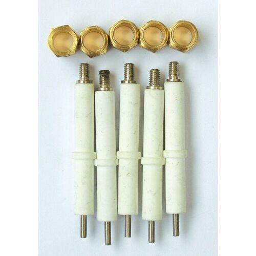 électrodes ou bougies d/'allumage x5 pièces ref B1962959 pour radiateur gaz auer