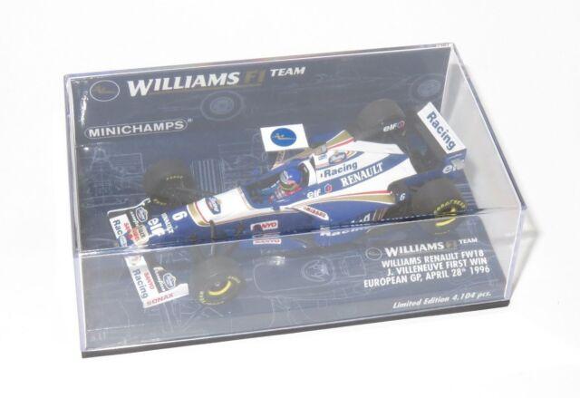 1/43 Williams Renault FW18 J.Villeneuve 1st Grand Prix Win  European GP 1996