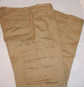 Old Navy Pantalones Cargo Para Hombres Talla 33 34 Tan Frente Plano Informal 100 Algodon Nuevo Con Etiquetas Ebay