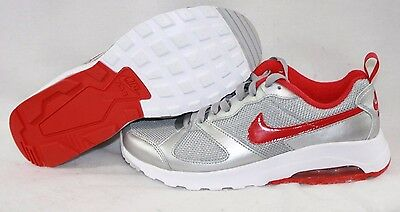 NEW Womens NIKE Air Max Muse 654729 069 Silver Red White Sneakers Shoes | eBay