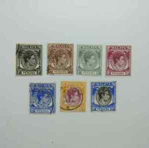 Malaya-Penang-1949-7-pcs-used-BP17