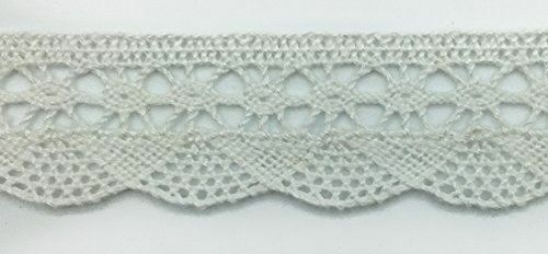 """TRIMPLACE White 1-1//4/"""" Oval Cluny Lace Insert 24 Yards"""