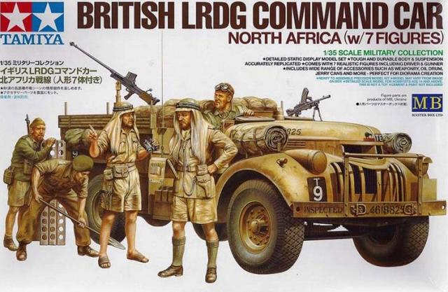 Tamiya 1  35 Brittiska LRDG Command bil North Africa w   7 Figures