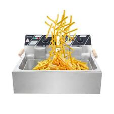 Zokop 5000w Electric Countertop Deep Fryer Singe Tank Commercial Restaurant 12l