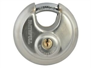 Faithfull Stainless Steel Discus Padlock 70mm FAIPLSS70DIS