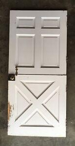 Image Is Loading Vtg Solid Wood Dutch Door 79x36 Shabby Cottage
