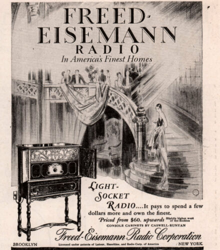 DECO AD FREED EISEMANN RADIO