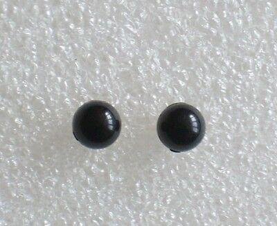 BOUCLES D/'OREILLES puces boules rouges résine 6mm