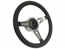 1969-1989 Camaro 9 Bolt /Tri Spoke Leather Steering Wheel Kit, Hub & Horn Button