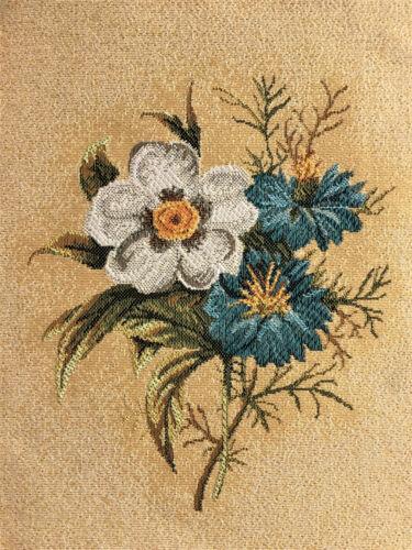 Gobelin panela tela decorativa bricolaje sustancia flores ojal flor empresa 17x23