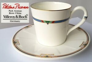 Coffee-Cup-Saucer-Villeroy-amp-Boch-Paloma-Picasso-Park-Avenue-N705