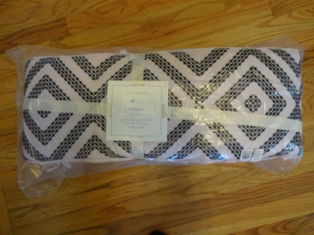 Bumper PINK BLACK NEW 2PC Pottery Barn Kids Vivienne Crib Skirt