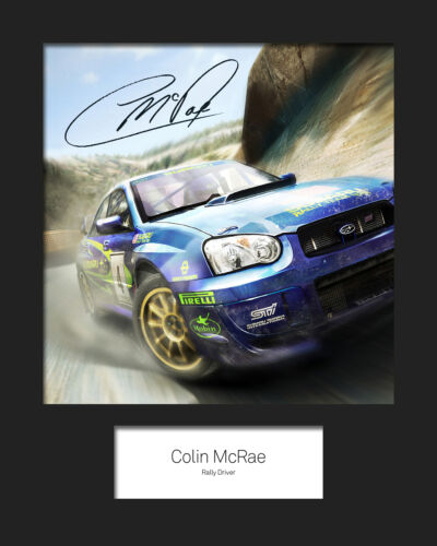COLIN McRAE #1 Signed 10x8 Mounted Photo Print FREE DELIVERY